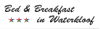 Bed & Breakfast in Waterkloof